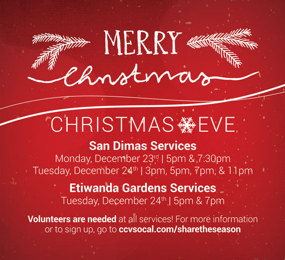 be sure to invite your friends family and especially your one life to one of our many christmas eve services visit the christmas eve web page - Ccv Christmas Services